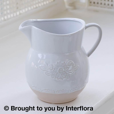 Chantilly Embossed  Ceramic Jug