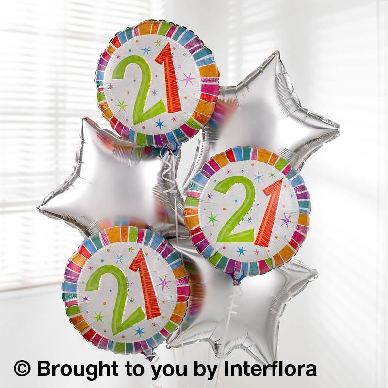 21st Birthday Helium Balloon Bouquet