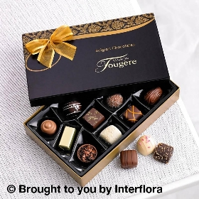 Congratulations Cream Rose Duo with 125g Maison Fougere Chocolates