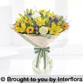 Spring Sunshine Hand tied with Belgian Chocolates (115g)