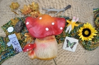 Medium Toadstool Resin Ornament