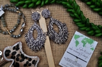 Tribal Style Pendant Earrings